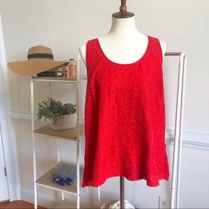 Lane Bryant red lace blouse size 22/24